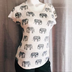 Elephant Pattern Lightweight Tee